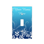 Arctic Frozen Snowdrift Personalized Light Switch Covers