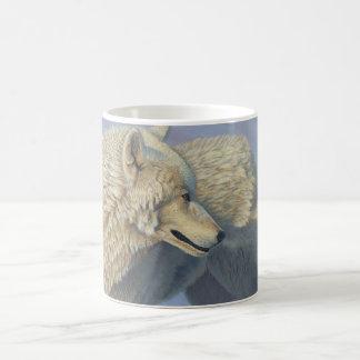 """Arctic Gaze"" White Wolf - Coffee Mug"