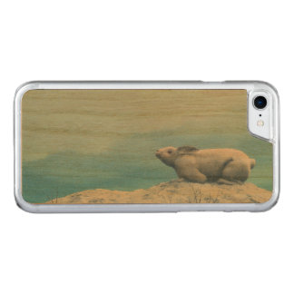 Arctic hare, lepus arcticus, or polar rabbit carved iPhone 8/7 case