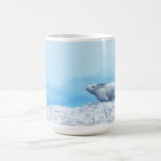 Arctic hare, lepus arcticus, or polar rabbit coffee mug