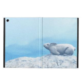 Arctic hare, lepus arcticus, or polar rabbit cover for iPad air