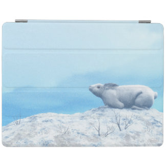 Arctic hare, lepus arcticus, or polar rabbit iPad cover