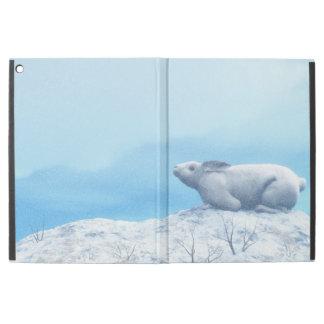 """Arctic hare, lepus arcticus, or polar rabbit iPad pro 12.9"""" case"""
