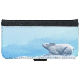 Arctic hare, lepus arcticus, or polar rabbit iPhone 6 wallet case