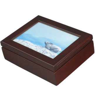 Arctic hare, lepus arcticus, or polar rabbit keepsake box