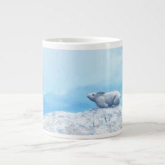 Arctic hare, lepus arcticus, or polar rabbit large coffee mug