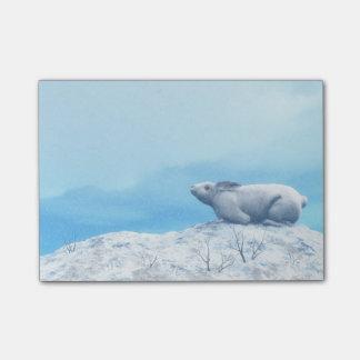 Arctic hare, lepus arcticus, or polar rabbit post-it® notes