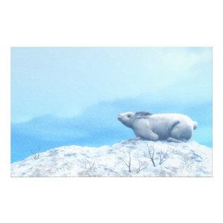 Arctic hare, lepus arcticus, or polar rabbit stationery