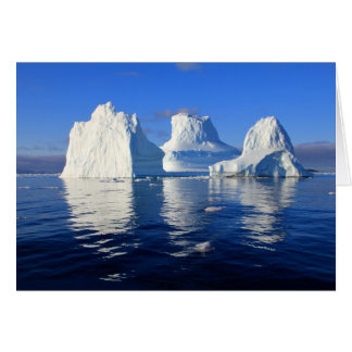 Arctic Icebergs Blue and White Blank Photo Note Card