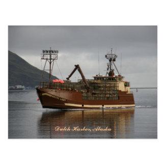 Arctic Lady, Crab Boat in Dutch Harbor, Alaska Postcard