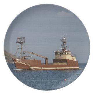 Arctic Lady, Crab Fishing Boat in Dutch Harbor, AK Plate