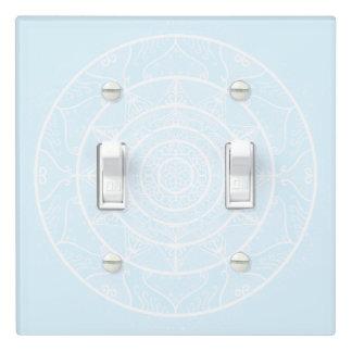 Arctic Mandala Light Switch Cover