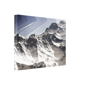 Arctic Mountain Peaks Stretched Canvas Print