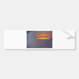 Arctic ocean sunset winter time scene bumper sticker