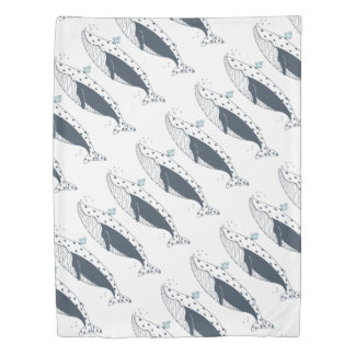 Arctic Ocean Whales Duvet by idyl-wyld creative