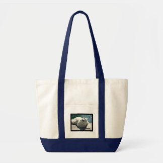 Arctic Polar Bear Canvas Tote Bag