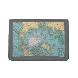 Arctic Region Map Wallet