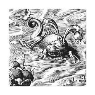 Arctic Sea Monster Gallery Wrapped Canvas