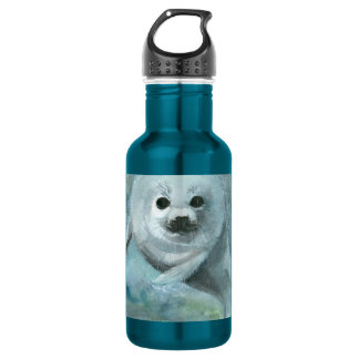 Arctic Swimmer Harp Seal 532 Ml Water Bottle