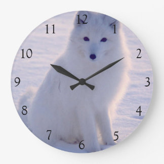 Arctic White Fox Winter Alaska Photo Designed Wallclock