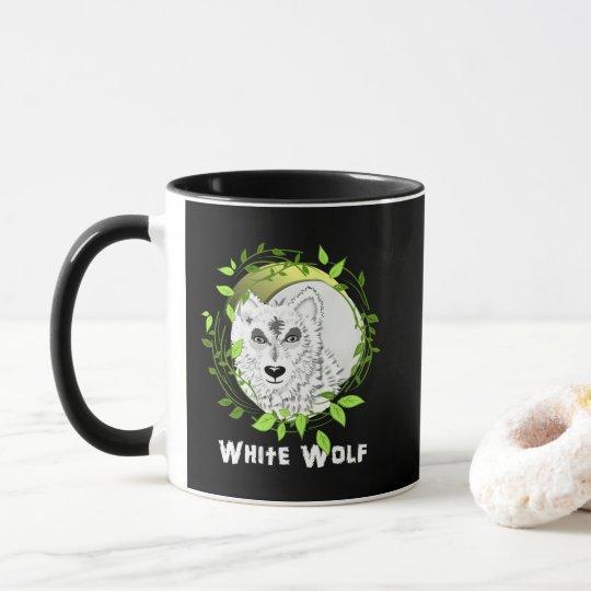 Arctic White Wolves Wild Animal Design Mug