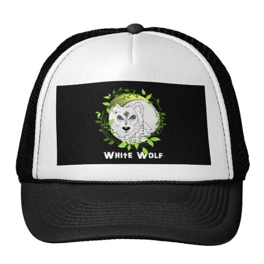 Arctic White Wolves Wild Animal Design Trucker Hat