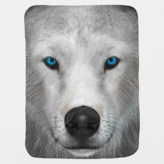 Arctic Wolf Baby Blankets
