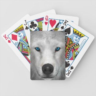 Arctic Wolf Bicycle Playing Cards