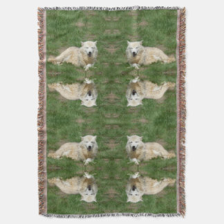 Arctic Wolf Canine Blanket