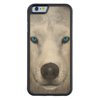 Arctic Wolf Carved Maple iPhone 6 Bumper Case