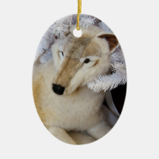 Arctic Wolf Christmas Ornament