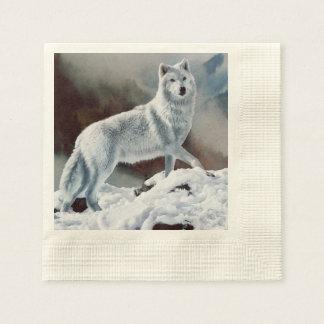 Arctic Wolf Disposable Napkins