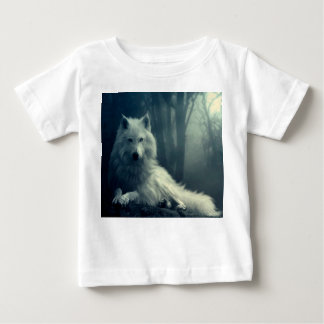 Arctic wolf - forest wolf - snow wolf - white wolf baby T-Shirt