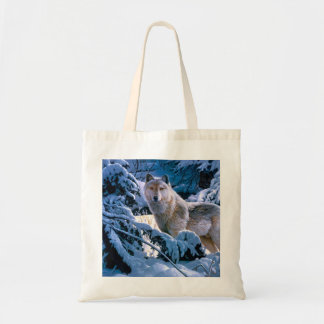 Arctic wolf - white wolf - wolf art tote bag