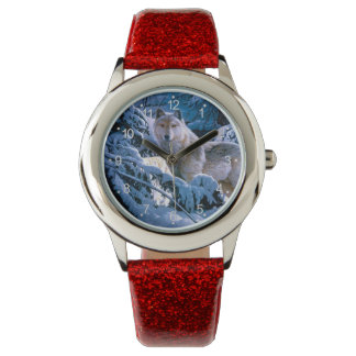 Arctic wolf - white wolf - wolf art watch