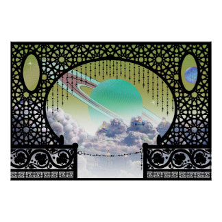 Ardana Cloud City Bungalow ~ Interplanetary Travel Poster