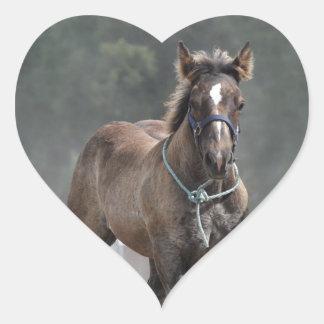 Ardennes foal heart sticker