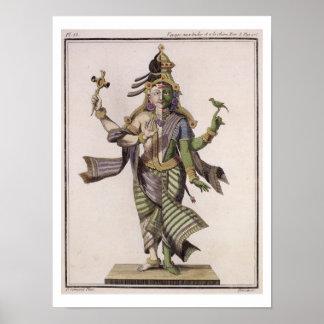 Ardhanarishvara, from 'Voyage aux Indes et a la Ch Poster