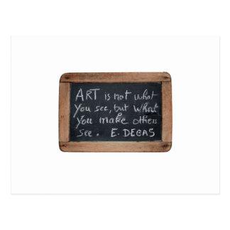 Ardoise 03 Artist's Quotes Degas Postcard