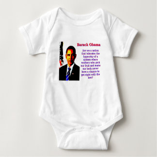 Are We A Nation That Tolerates - Barack Obama Baby Bodysuit