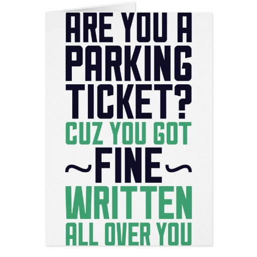 Are You A Parking Ticket Cards