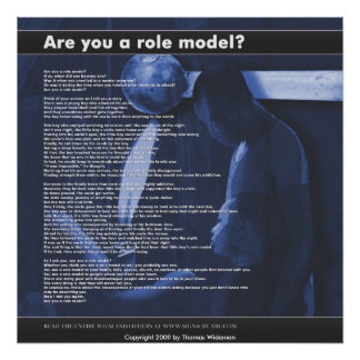 Are you a role model, Copyright 2009 by Thomas ... Poster
