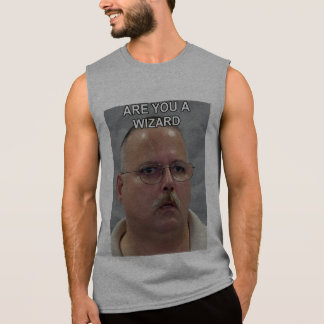 Are you a wizard meme sleeveless shirt