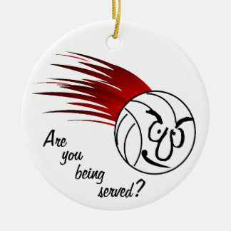 Are You Being Served? Round Ceramic Ornament
