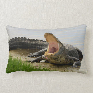 Are you brave? Sleep with me Alligator Lumbar Pillow