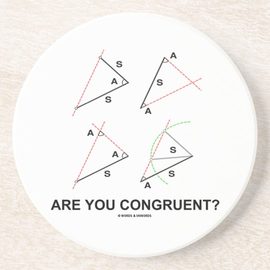Are You Congruent? (Congruent Angles) Coaster