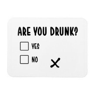 are you drunk funny text message illustration ques magnet