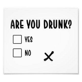 are you drunk funny text message illustration ques photo print
