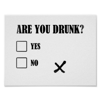 are you drunk funny text message illustration ques poster