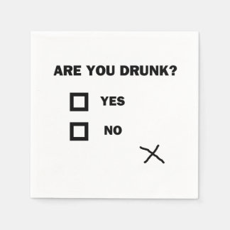 Are You Drunk? Paper Napkins